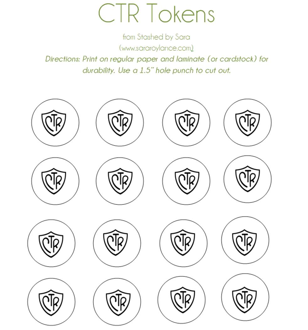 photograph relating to Printable Tokens called CTR Tokens with Cost-free printable Stashed via Sara